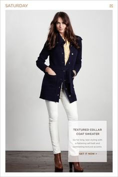 White jeans for fall- blue and brown boots| Banana Republic