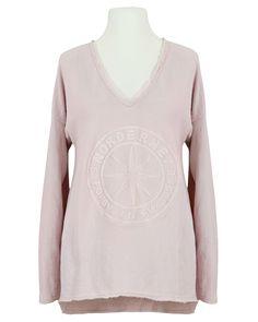 Damen Sweat Shirt mit Prägung, rosa von Monday Afternoon | meinkleidchen Damenmode aus Italien Shirts & Tops, Oversize Look, Pullover, Tunic Tops, Sweaters, Women, Fashion, Pink, Italy
