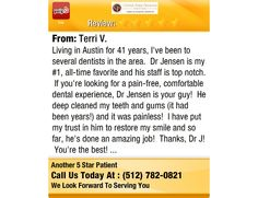 Living in Austin for 41 years, I've been to several dentists in the area. Dr Jensen is...