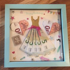 Picture result for birthday money gift # cadeauxàréalisersoimême Pictures . Happy Birthday 1, Birthday Money Gifts, Creative Birthday Gifts, Birthday Presents, Origami Vestidos, Creative Money Gifts, Diy Gifts, Handmade Gifts, Birthday Images