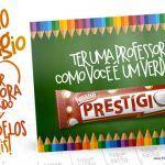 Cartão Prestígio Dia dos Professores Grátis para Imprimir