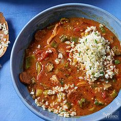 A smoky touch of paprika differentiates this chicken and chorizo recipe from the gumbo crowd.