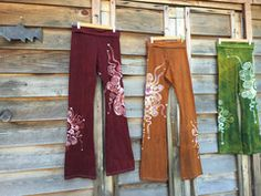 Red Batik Yoga Pants - Sale Basket size Large