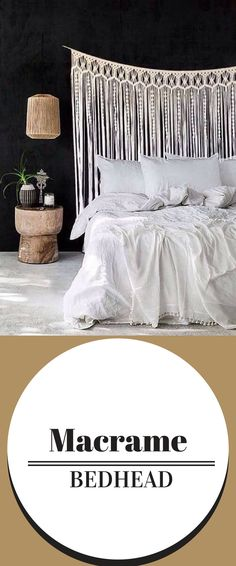 This stunning macrame design could be used for a bed head or decor use. Also a beautiful size for wedding arbour / photography styling backdrops. #bohochic #bohostyle #ad #bohobedroom #bohowedding