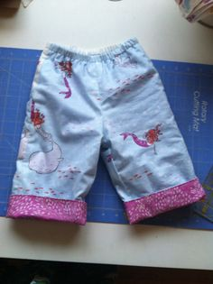 Quick Change Trousers from Handmade Beginnings Book. So simple and cute!