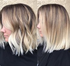 Blonde Ombre Short Hair, Balayage Straight Hair, Brown Hair Balayage, Balayage Brunette, Hair Highlights, Blonde Hair, Medium Hair Cuts, Medium Hair Styles, Short Hair Styles