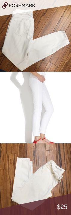 Madewell Skinny Skinny Ankle White Jeans Excellent Condition White Skinny Ankle Jeans From Madewell.  Size 26 Madewell Jeans Ankle & Cropped