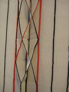 Pop Out, test sample (2010) by Scottish textile artist Lucy McMullen. Nylon monofilament and cotton. via Ffion Griffith