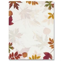 Fall leaves by ideaart Stationary Printable, Cute Stationary, Borders For Paper, Borders And Frames, Autumn Art, Autumn Leaves, Computer Projects, Computer Paper, Writing Paper