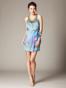 Absolutely loving this look! Silk Sequin Beaded Neck Dress by Matthew Williamson up to 60% off at Gilt