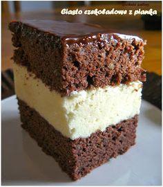 Kuchnia Sabiny: Ciasto czekoladowe z pianką Polish Desserts, Cookie Desserts, Baking Recipes, Cake Recipes, Dessert Recipes, Food Cakes, Cupcake Cakes, First Communion Cakes, Pastry Cake