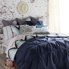 Blissliving Home Harper Navy Full-Queen Duvet Set by Blissliving Home Bedding : The Home Decorating Company