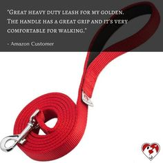 What does our friend Amazon Customer has to say about our red 2-layer leash? Click the link in our bio to get yours.🐶😃😍👍❤️ #leash #dogleashes #dogs #dogstagram #dogsofinstagram #puppiesofinstagram #puppystagrams #puppycraze #puppies #petsloversclub #instadog #instadogs #love #dogphotography#petsloversclub #petstagram #dailydog #dogoftheday