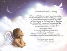 """If Tears Could Build a Stairway"" Personalized Poem for the Loss of a Child  #Handmade"