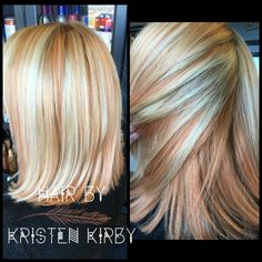 Rose gold, copper and blonde. Lanza Haircolor