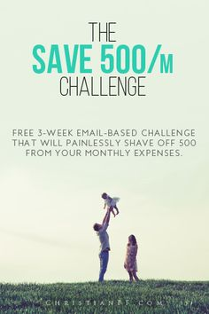 The Save $500/m Challenge is FREE 3-week email-based challenge that will provide you with real-world, actionable steps that you can take to painlessly shave off $500 from your monthly expenses.