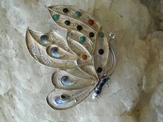 Guilloche Enamel sterling filigree butterfly by Jadelsjewelry Filigree Jewelry, Butterfly Jewelry, Silver Filigree, Jewelry Art, Jewelry Rings, Fine Jewelry, Jewellery, Unique Jewelry, Vintage Rings