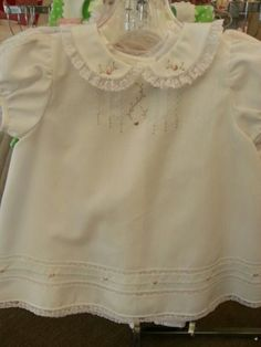 Gorgeous hand embroidery on baby dress