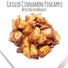 """Hey guys, @danikabrysha here with a nice twist on a side dish for your Whole30 meals.  This is a super simple and fast recipe, and can even be used as a salsa on top of some grilled fish or meats. .  Grilled Cinnamon Pineapple with Toasted Walnuts (Serves 4): . 1 pineapple, peeled and cut into chunks 1 Tbsp coconut oil 2 tsp cinnamon 1/2 cup walnuts, chopped  In a skillet on medium-high heat, add coconut oil, followed by pineapple.  Coat pineapple in oil and cook for about 30 seconds before…"