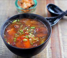 Spicy kimchi soup - get probiotics in winter | Finding Vegan