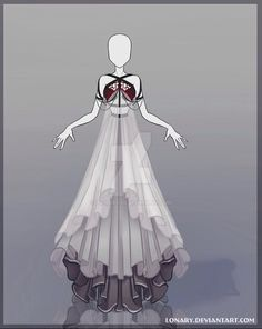 Nyx is the crown princess of Nocturna, so she deserves a pretty dress for her coronation day ! A big, big crown.) Hope you'll like this design ! Anime Kimono, Anime Dress, Dress Drawing, Drawing Clothes, Fashion Design Drawings, Fashion Sketches, Moda Medieval, Poses References, Dress Sketches