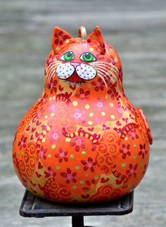 Tabby Cat Kitty Collector Orange Cat Fat Cat Hand by Gourdament