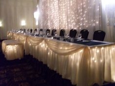 love the lights under the table. will try to get my venue to let me do this :)