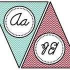 This Teal and Red Chevron Cursive Alphabet Banner will look terrific in your classroom!  It's a great reference tool for students as they learn to ...