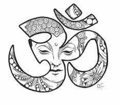 Layout for the Buddha Ohm tattoo. Love this concept for the center of my underboob