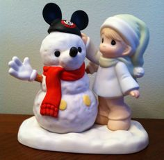 Mickey Snowman precious moments