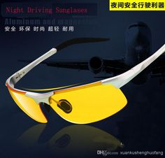 f4c8babc7bb Aoron brand Men Aluminum magnes Fatigue Anti-glare Night Vision Goggles HD  sunglasses Driving polarized Driver sunglasses glasses YJ071