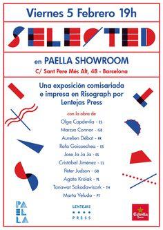 Os invitamos a la exposición de SELECTED el próximo viernes 5 de febrero a las 19h en Paella Showroom Barcelona.