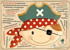 carnaval careta máscara diy manualidades handmade carnival mardi gras custome mask pirata pirate capitán peques niños Pirate Birthday, Pirate Theme, Pirate Party, Disney Scrapbook, Scrapbooking, Boy Quilts, Art And Illustration, Party Items, Free Prints