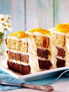 Ombre Karamell-Kuchen mit Ananas