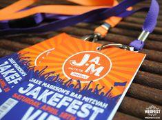 Festival VIP Pass Bar Mitzvah Invitations - WEDFEST - http://www.wedfest.co/festival-vip-pass-bar-mitzvah-invitations/