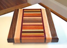Handmade Medium Wood Cutting Board  The Hipster  by tauntongreen
