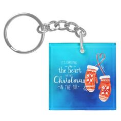 Elegant Christmas in the Heart | Keychain - simple clear clean design style unique diy