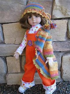 """Wishing for Spring Overalls by Tuula Fits 13"""" Effner Little Darling to A """"T""""   eBay. Ends 2/9/14, Sold for $152.49"""