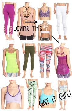 So many great deals from the including these cute fitness options? I mean this almost makes me want to workout, but let's not get too crazy. Mckenna Bleu, Gym Gear, Fitness Goals, Nordstrom, Fitness Apparel, Workout Outfits, My Style, Cute, Exercise