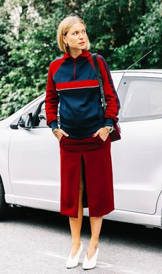 The chic way to wear a track suit.