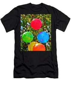 Party Men's T-Shirt (Athletic Fit) featuring the photograph Party Balloons by Cynthia Guinn
