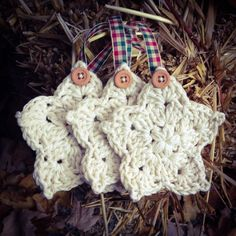 Handmade Crochet Christmas Ornaments MADE TO ORDER