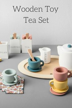My daughter loves to play with tea sets. She still serves the best pretend tea and coffee. This would be a special gift for a little girl. #ad #teasets #toys #kidfun #pretendplay #imagination