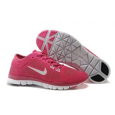 Nike Free 5.0 White Womens Tr Fit 3 Shoes Peach Red Pink New