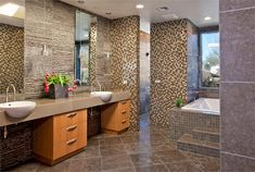 Open Contemporary Bathroom by Lori Carroll
