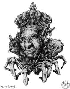 솔로몬의 72 악마(The 72 Demon of Solomon) Baphomet, Fantasy Creatures, Mythical Creatures, Dark Fantasy, Fantasy Art, King Solomon Seals, Satanic Art, Demon Art, Demon King