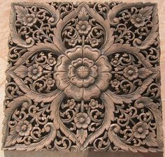 Teak, Wood carvings and Woods on Pinterest