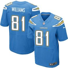 cfd4ce307 Nike Los Angeles Chargers  81 Mike Williams Electric Blue Alternate Men s Stitched  NFL New Elite Jersey