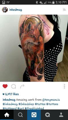 Badass Fox Tattoo