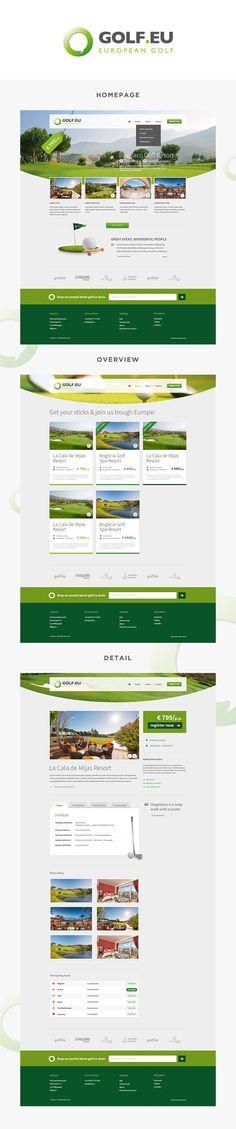 #webdesign for Golf.eu #golf #layout #design by www.weblounge.be